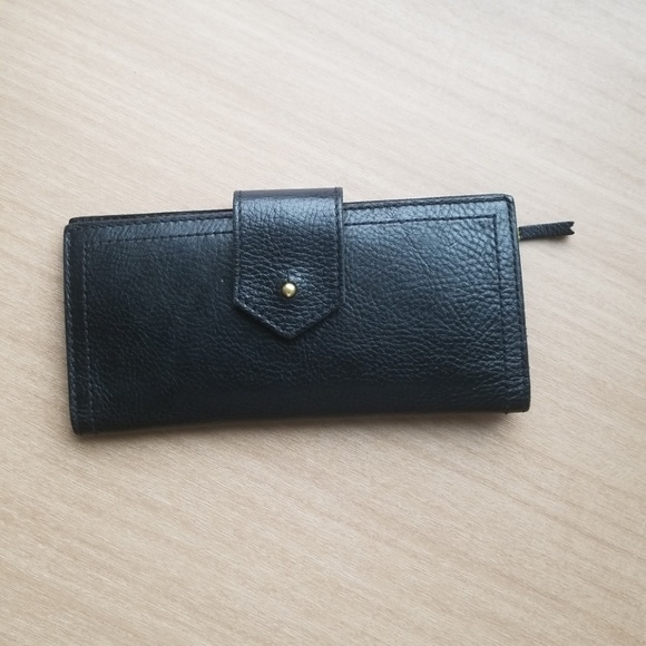Madewell Handbags - Madewell Post Wallet Black